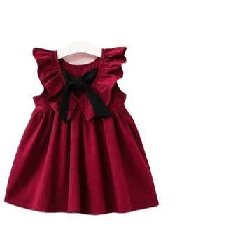 FLARE SLEEVE BOW BACK PATTERN MIDI / FROCK / GOWN WEDDING PARTY KIDS Wear For Girls Dresses Shopping WHOLESALE HEAVY EMBROIDERY