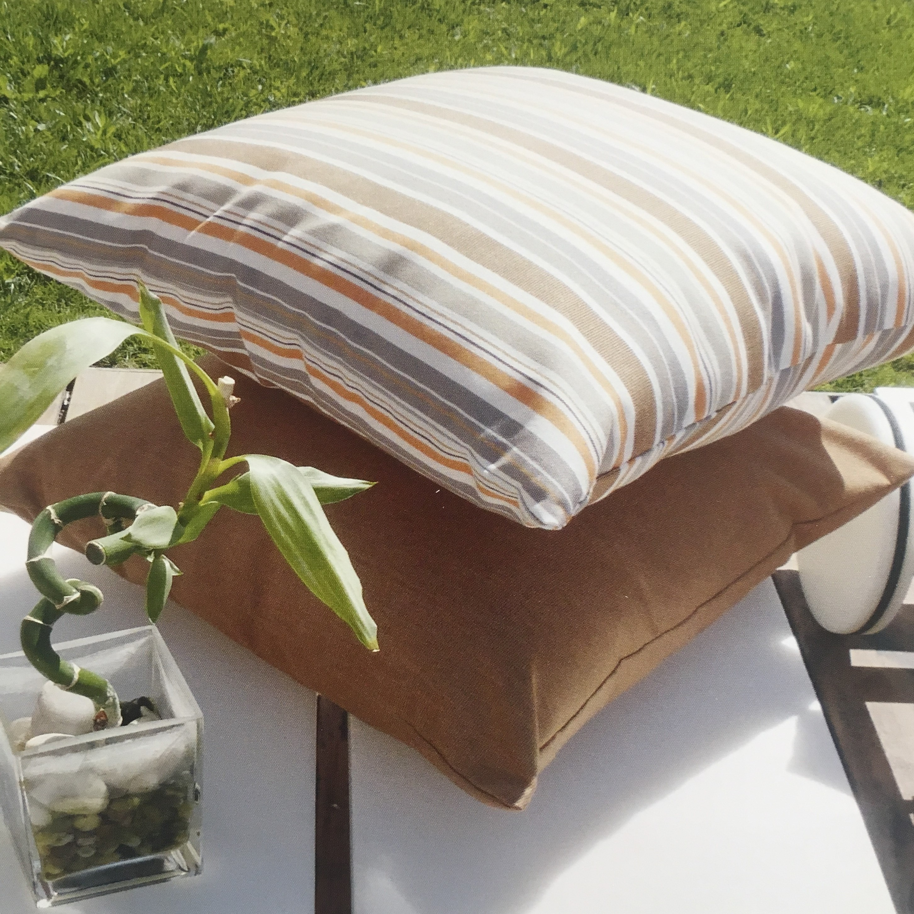 outdoor  sofa  Fabric 100 Solution Dyed Acrylic stripe Waterproof Beach Gsm Style  patterned  Tent Feature Weight Material Yarn