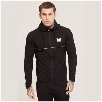 Customized made design hoodies slim fit black color with zipper wholesale hoody with own your custom logo