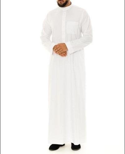 Low cost!! Jubbah for Men Men Muslim Thobe Islamic Arabic Clothes 100/% cotton