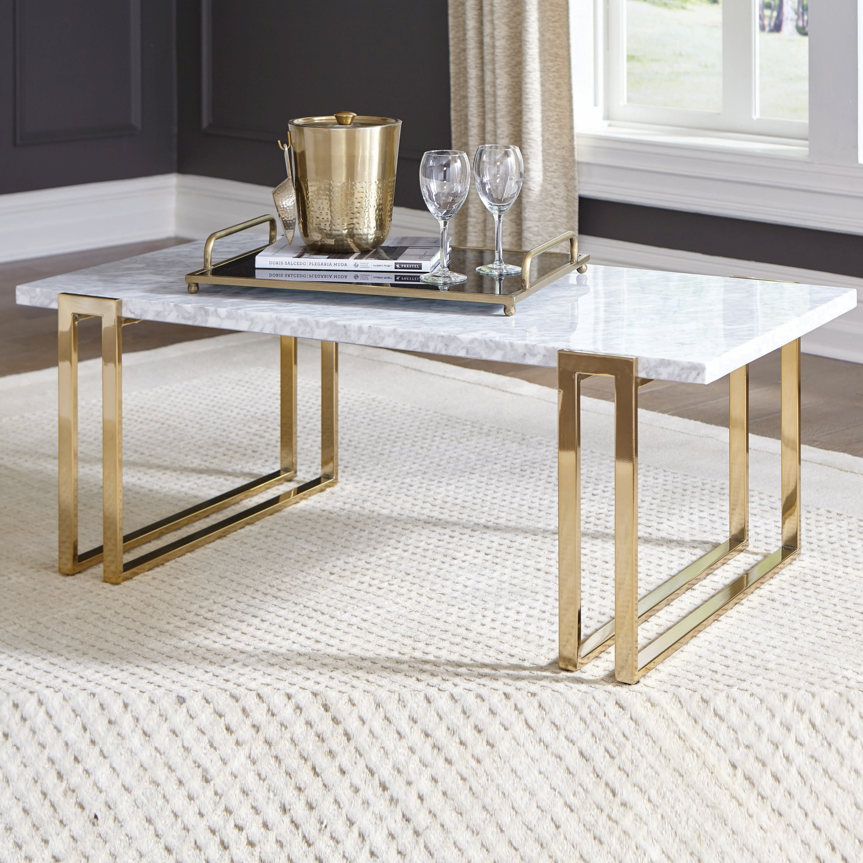 Marble Dining Table With Gold Plated Table Legs   Buy Dining ...