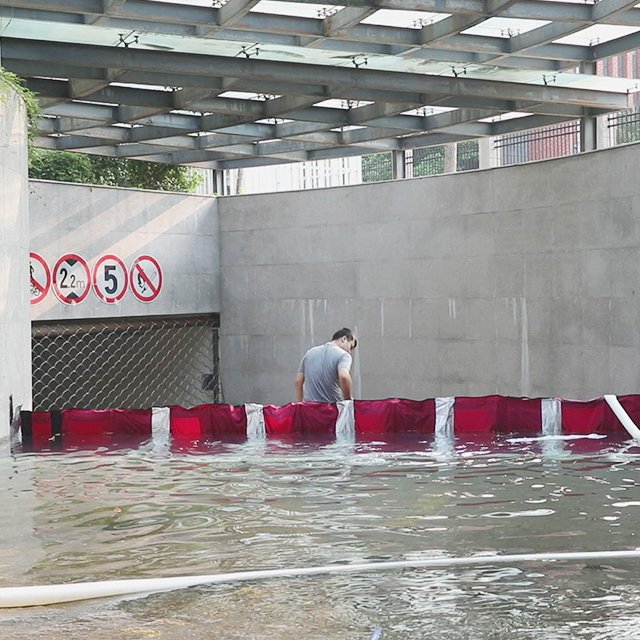 Removable flood barriers stop flooding from tidal surge water gate