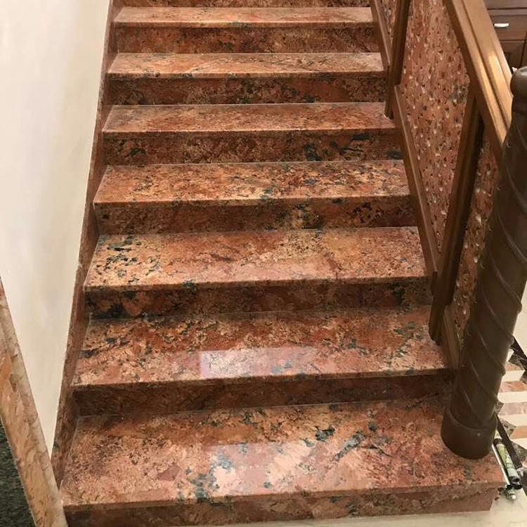 Alaska Pink Granite Steps