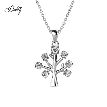 Destiny Jewellery Premium Austrian Crystal Family Tree Of Life Pendant Necklace Plant Jewelry 2021