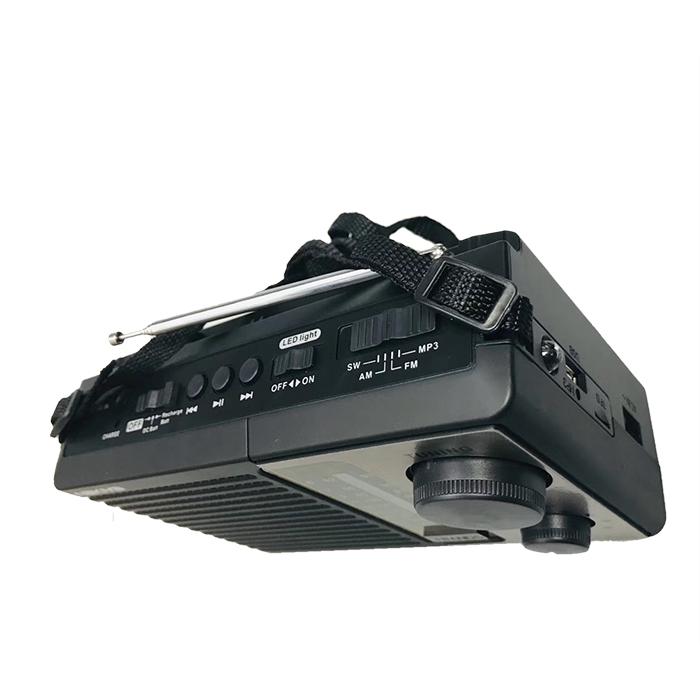 ICF-F10BT Multimedia Mp3 Am Fm Sw Rechargeable Portable Pocket solar Radio With Usb