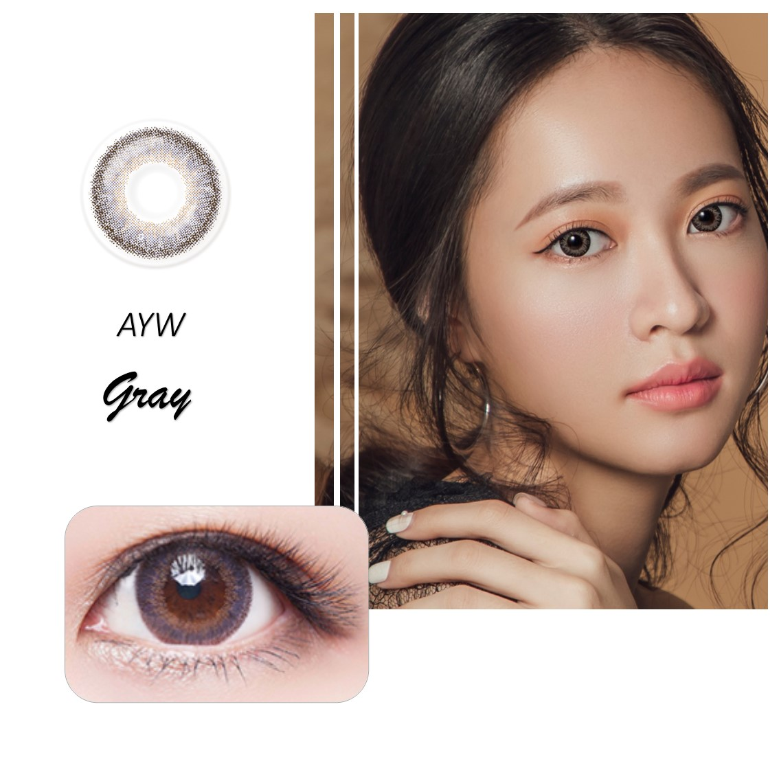 200.20mm Daily Soft Colored Contact Lenses Cosmetic Use 20day Circle ...