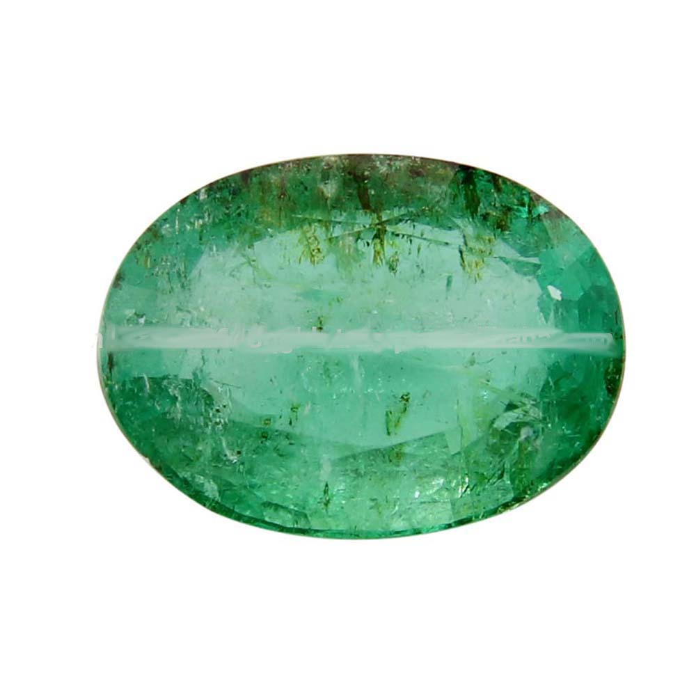 100/% Natural Colombian Green Emerald Faceted Oval Shape Loose Emerald Gemstone