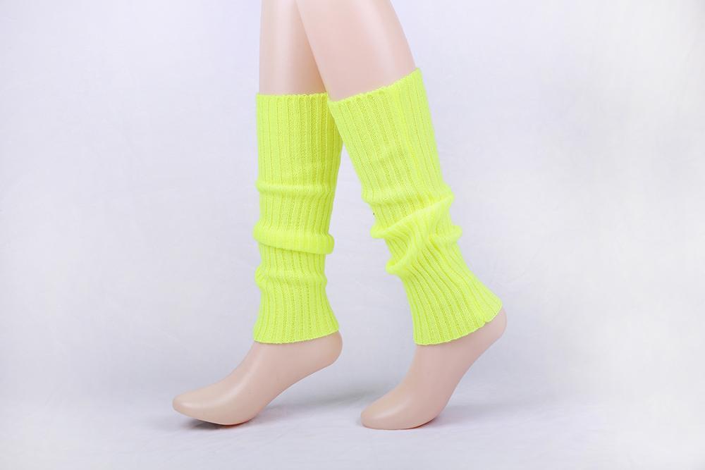 Dance Sports Fitness Accessory Dance Plain Crochet Long Women Knit 80s Leg Warmers