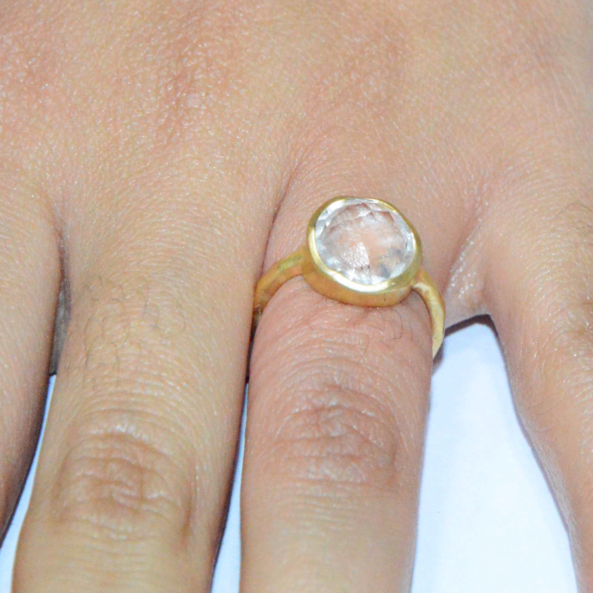 sterling silver ring gold filled 925 silver Ring set hammered