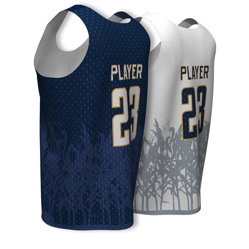 New Mens Basketball Reversible Practice Jersey Basketball Uniform ...