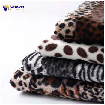 Hot sale polyester printed animal print plush velvet fabric cow zebra giraffe printing velvet for upholstery garment