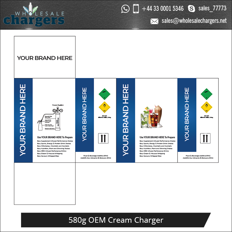 Huge Demand 580g Cream Chargers-N2O Cream Chargers for Party Dessert Decoration