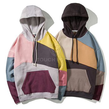 New Brand Hoodie Sweatshirt Mens Color Block Patchwork Harajuku Hoodie Streetwear Casual HipHop Pullover hoodies