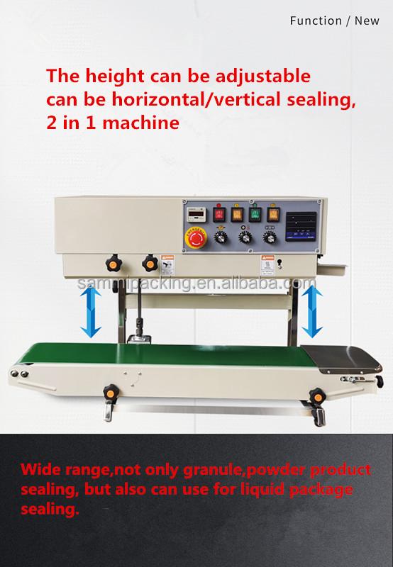 FRD-1000CV Semi automatic manual vertical sachet water plastic bag continous sealing machine band sealer