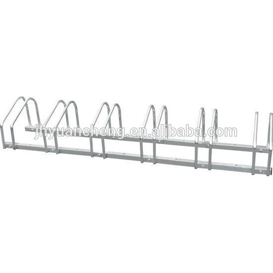 Galvanized Steel Bicycle Parking Stand , Bike Storage Rack In Public