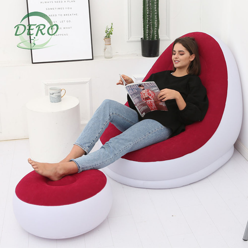 chesterfield high inflation bag lazy comfortable bed air inflatable chair relax inflated sofas