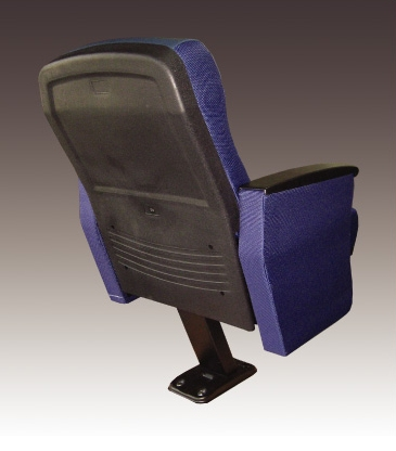 Auditorium Chair GARNET Lecture Hall Long Lasting Solid Material Strong Metal Single Pedestal High Comfort Moulded Foam
