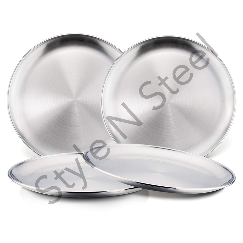 Stainless Steel Double Wall Snack Plate