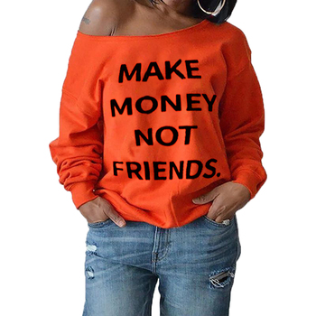 simply southern comfort colors long sleeve t shirts for women long ladies polyester crew neck Orange sweatshirt with letters