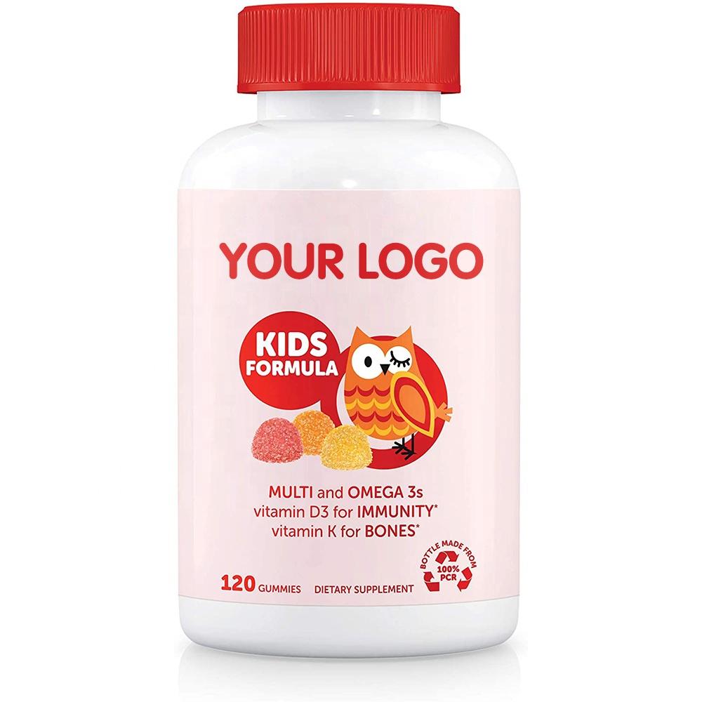 Vegan Kids Multivitamin Gummy with Zinc Vitamin C Omega 3 Fish Oil for Immunity