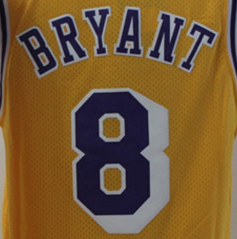 Kobe Bryant #8 Yellow Throwback Best Quality Stitched Jersey - Buy ...