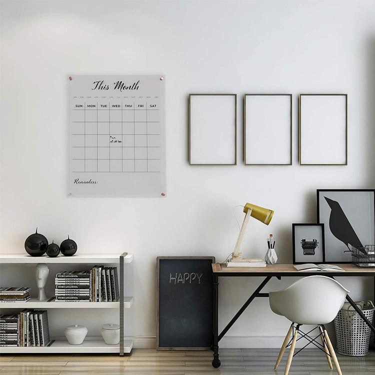 Большой акриловый календарь Apex, персонализированный Семейный календарь, ежемесячный акриловый календарь, сухой стираемый настенный календарь