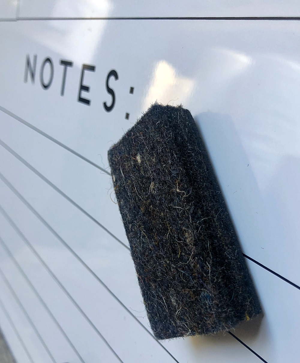 New Product: Made in USA Felt Eraser for whiteboards or blackboards with magnet for school office home use