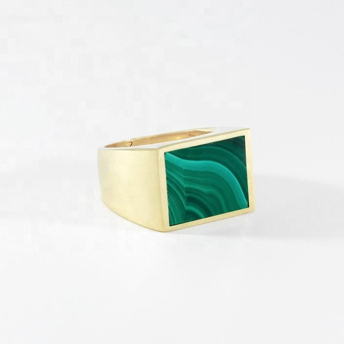 Handmade Brass Square  Ring   Free Express Delivery Wordwide !