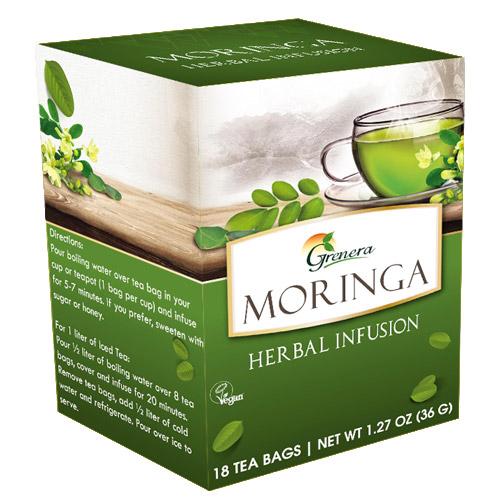 Organic Certified Moringa Oleifera Tea Bags