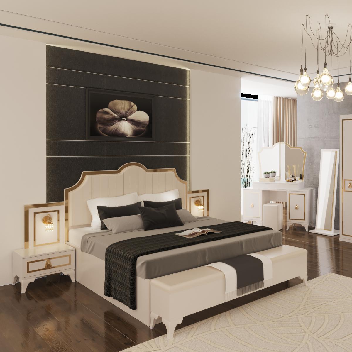 Floransa Lux White Bedroom Set With Door - Buy Bedroom Set,Bedroom Set  2020,Modern Bedroom Sets Product on Alibaba.com