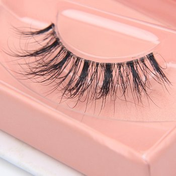 Clear Band Fluffy 3D Mink False Eyelashes Lightweight Natural Look Invisible Line Lashes Strips
