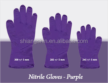 Purple Nitrile disposable gloves