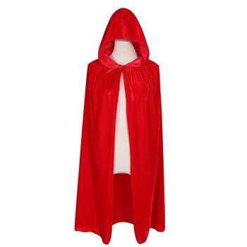 C245 Kids Hooded Velvet Cloak Halloween Christmas Cosplay Costume Child Vampire Cape