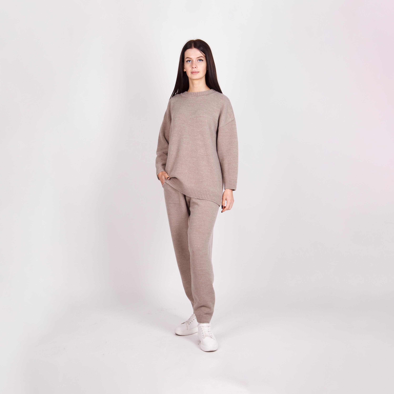 Traje De Dos Piezas Para Mujer Jersey Y Pantalones Buy Suit For Women Jumper Suit Women Two Pieces Women Suit Product On Alibaba Com
