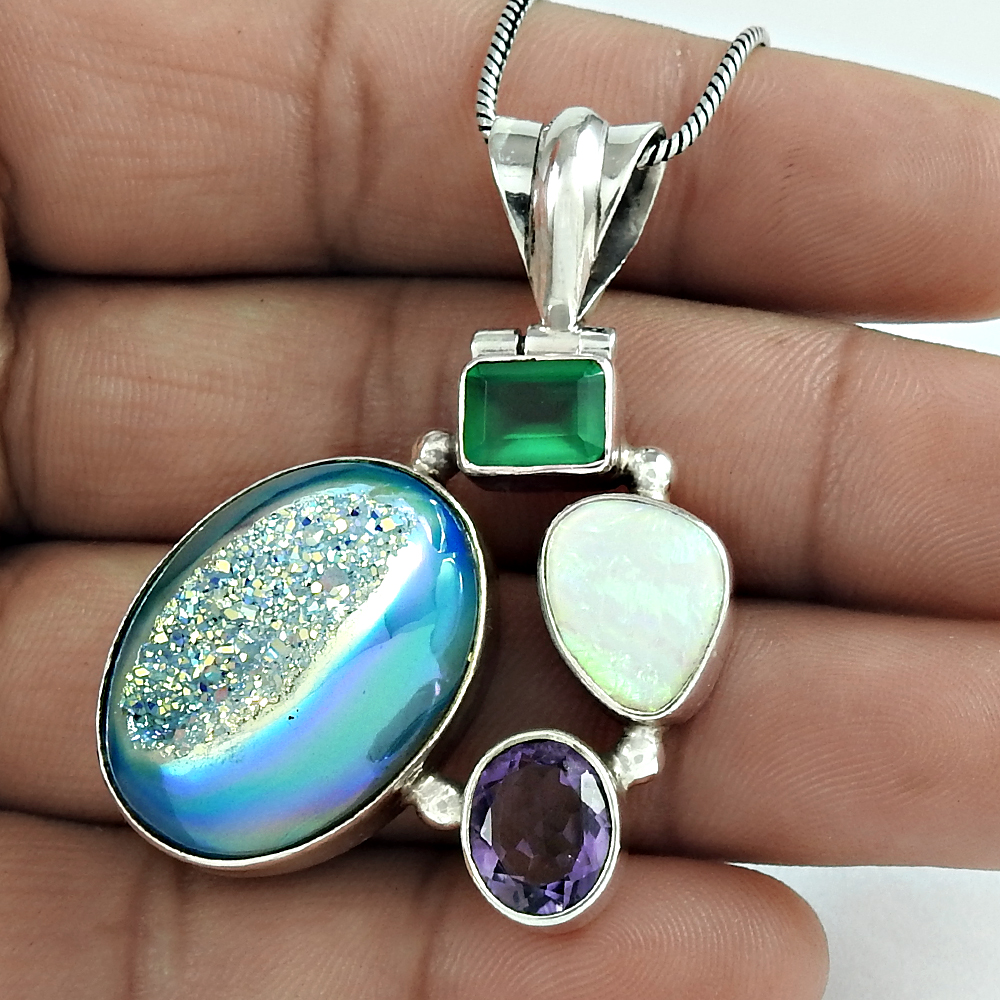 Vintage Look Of Multi Gemstone Pendant New Design 925 Sterling Silver Solid Silver  Pendants Wholesale Jewelry Manufacturer - Buy Factory Direct Sale 925  Sterling Silver Jewelry,Silver 925 Jewelry Handmade Jewelry,Gemstone Indian  Silver