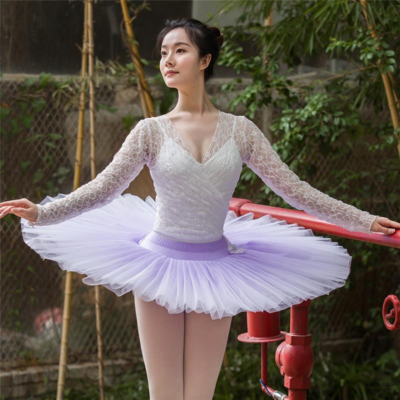 High Quality Professional Performance Wear Hard Net Ombre Colors Adult Girls Ballet Pancake Tutu