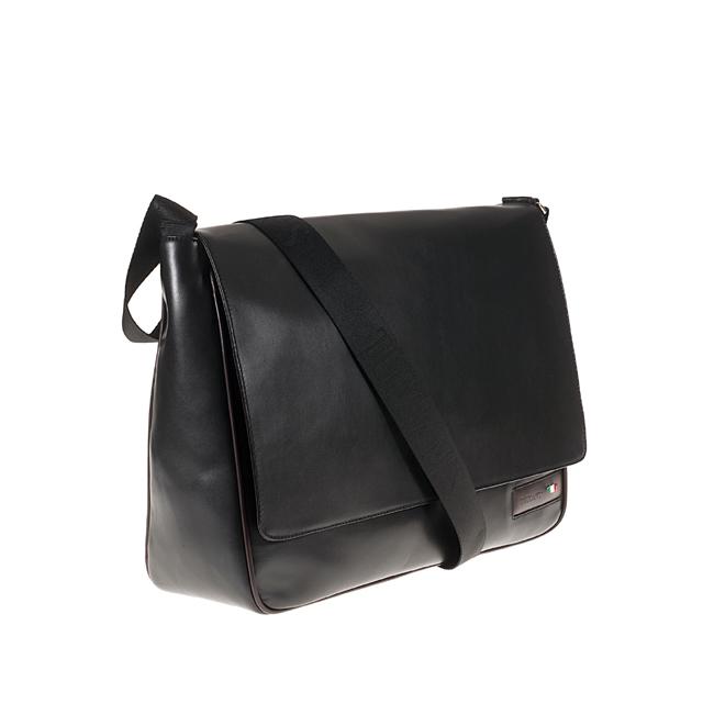 Italian quality Man Shoulder Strap real leather padded pocket for tablet Vega for men