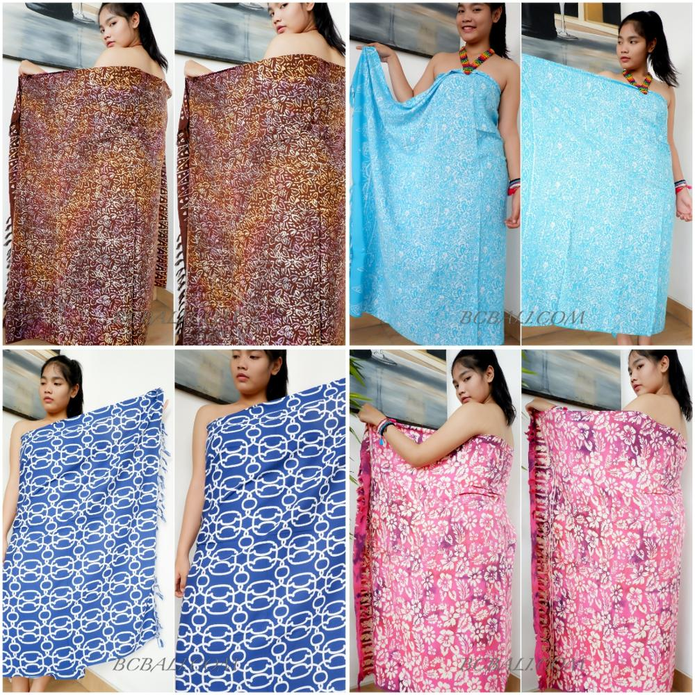 Бали Саронг Парео Пляжная одежда вискоза лучшее качество ручная печать дешевая оптовая цена