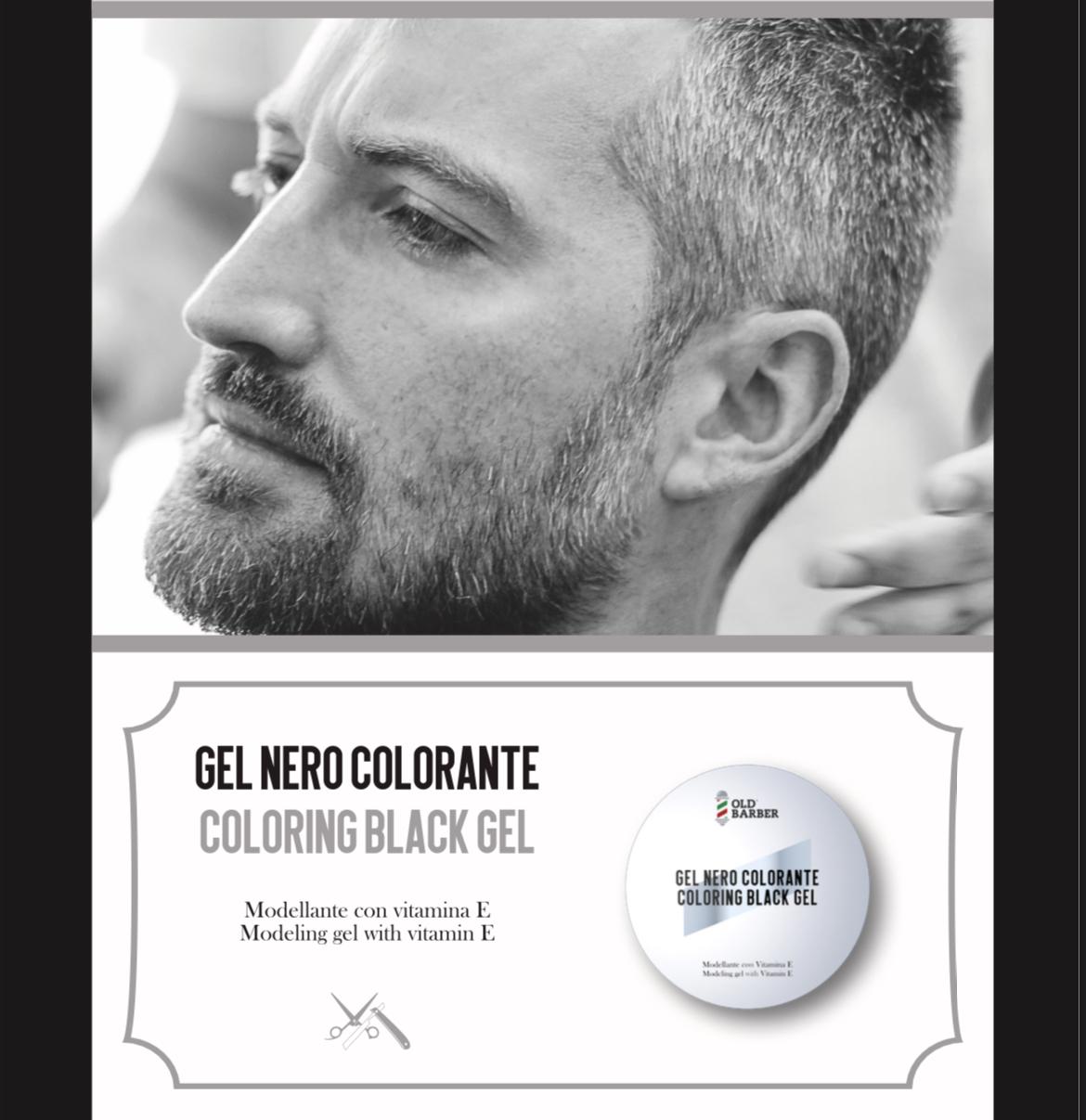 Высококачественный окрашивающий волосы черный гель для мужчин, Сделано в Италии