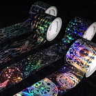 Tape Manufacture Tape Washi Smysterious Space Cosmic Celestial Shiny Washi Tape Set Jazz Up Your Wrappings Or Scrapbooks