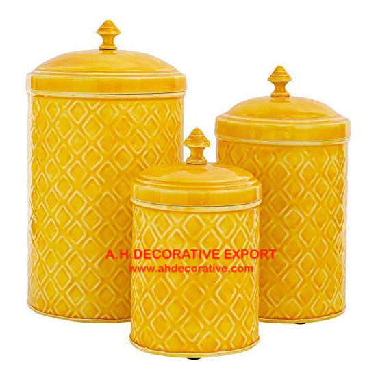 Yellow Color Metal Canister Set For Kitchen Storage Buy Yellow Color Metal Canister Set For Kitchen Storage Kitchen Canister Canister Product On Alibaba Com