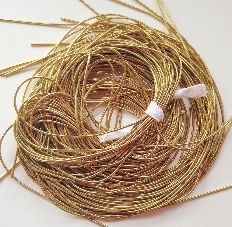 Gold  Matte Finish French Wire-Metallic Rough Wire-Purl-Goldwork Purl-goldwork embroidery-goldwork supplies-Dapka-1mm
