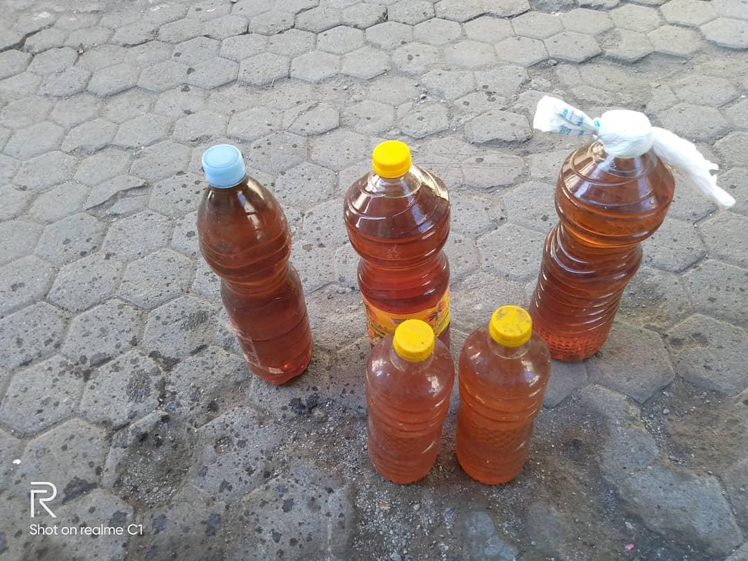 Использованное растительное масло для приготовления пищи