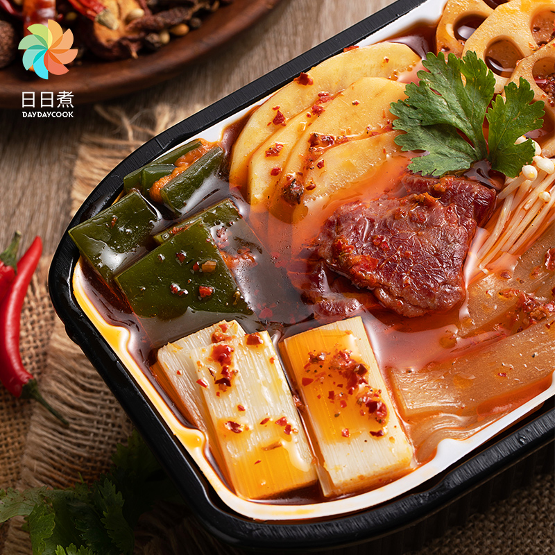 DayDayCook ready to eat Strength Beef Tripe Hotpot microwave kiln hotpot self-heating induction cooker instant hot pot