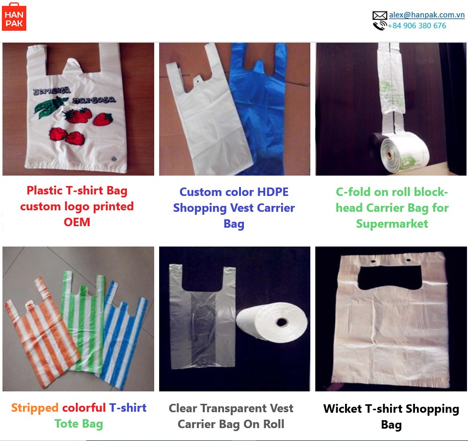 Plastic Shopping Bag with handle