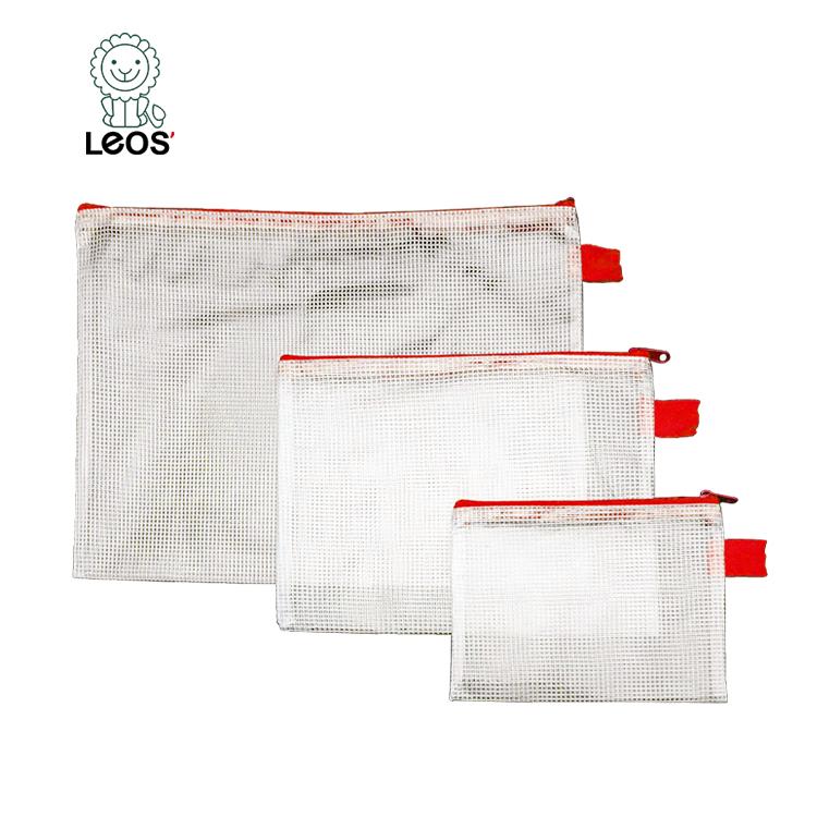 Пластиковая Сетчатая Сумка с логотипом на заказ, сумка для канцелярских принадлежностей и документов, сумка из ПВХ с молнией, папка для файлов