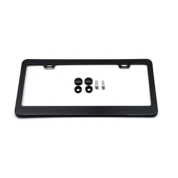 High Quality Rust Free Stainless Steel License Plate Frame With Chrome Screw Caps