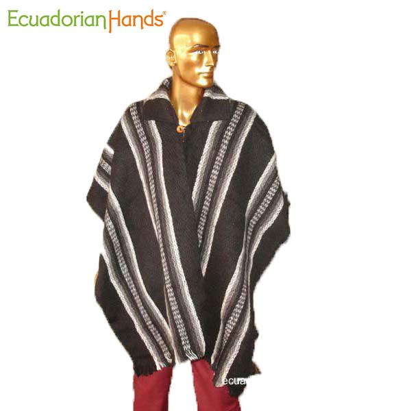 Poncho hand woven in Ecuador