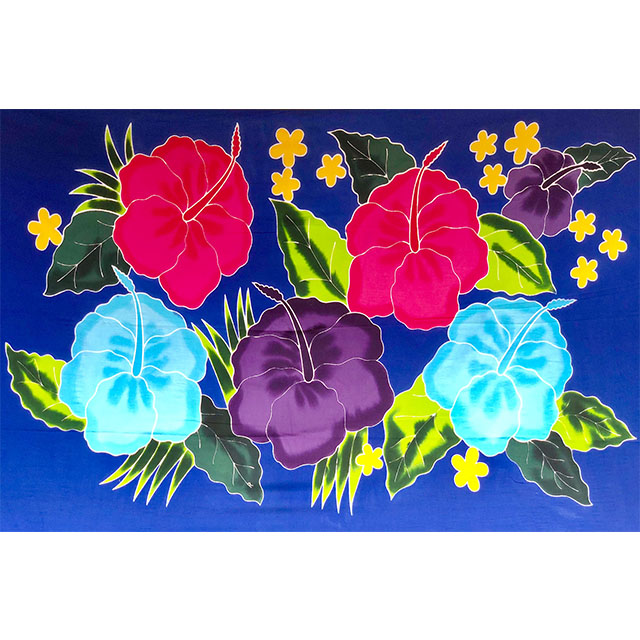Flower Painting Bali Sarong Handmade