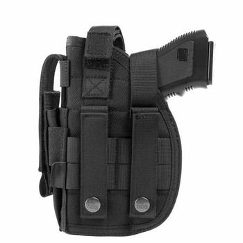 Tactical Pistol Gun Molle Belt Holster with Magazine Pouch